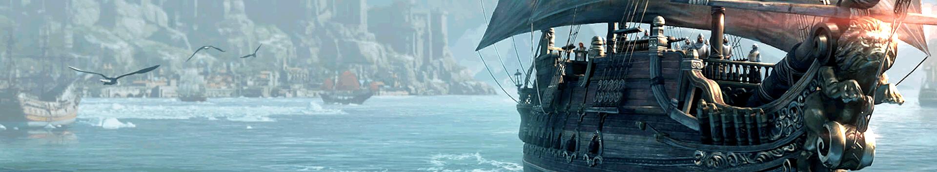 Uno de los diferentes barcos y puertos de Lost Ark Online.