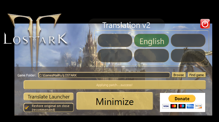 English Patch for Lost Ark